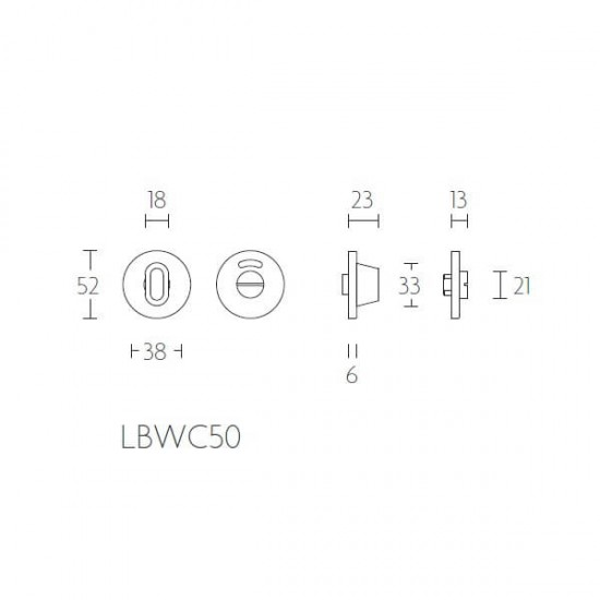 Toiletgarnituur  Basic  LBWC50 PVD RVS